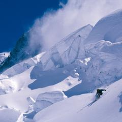 Freeriding on Grands Montets, Chamonix