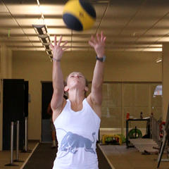 Ski Exercises: Overhead Medicine Ball Throws - ©Tim Shisler
