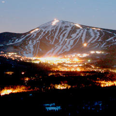 Night falls over Sugarloaf Resort