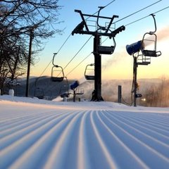 Fresh corduroy at Appalachian Ski Mountain. Photo Courtesy Appalachian Mtn.