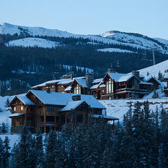 Private lodges at Yellowstone Club, Montana.