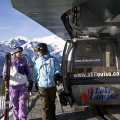Skiers unload at the top of the Lake Louise gondola. Photo by Henry Georgi. Courtesy of Lake Louise.  - ©Henry Georgi