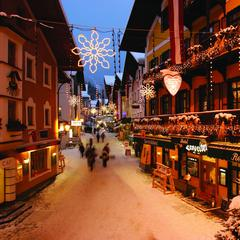 Festive streets of Zell. 