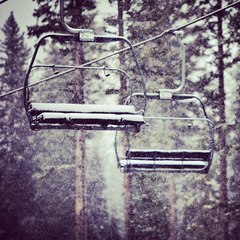 Chairlifts looking ready in Aspen.