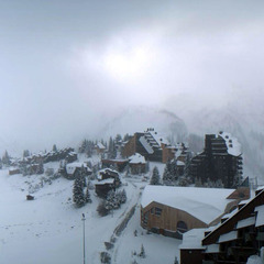 Avoriaz blanketed in snow Oct. 27th.