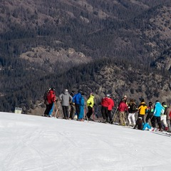 Skiers got a tour of the course and tips on how to ski each section by U.S. Ski Team members.