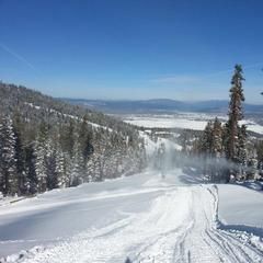 Snowmaking guns hard at work at Squaw Valley last Friday. Photo credit: Squaw Valley
