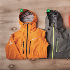 Men's Shells: 1) Helly Hansen Odin Mountain Jacket; 2) Dakine Clutch Jacket; 3) Patagonia PowSlayer Jacket