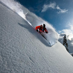 Zack Giffin skiing at Mt. Baker WA