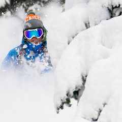 Over 15 inches of fresh powder fell on Grand Targhee this week, making for plenty of face shots.