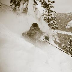 Chris Shalbot deep in Stevens Pass