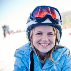 Skiing kids are happy kids. Photo Courtesy of Catalooche Ski Area.