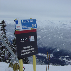 Franz's Run in Whistler, Canada.