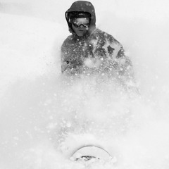 Dan Darabond snowboarding at Wolf Creek, Dec. 15 2012 in 30-plus inches of storm snow.