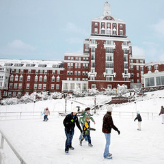 Ice skating at The Homestead in Virginia. Photo Courtesy of The Homestead.