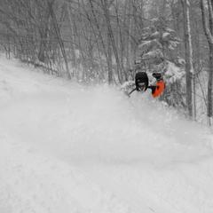 Deep turns at Okemo, 12/27/2012.