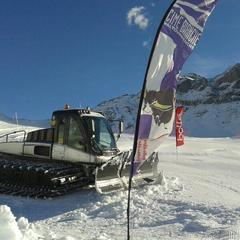 Cervinia, al lavoro sulle piste