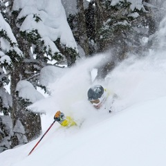 You'll get lost in this deep snow at Northern Escape Heli-Skiing,