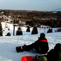 Boarders at Alpine Valley.