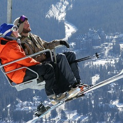 Norquay's North American Chair overlooks Banff. Photo by Malcolm Carmichael/Banff Lake Louise Tourism.