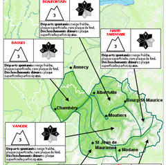Exemple d'un bulletin départemental Pour que la sortie hors-piste ne se transforme pas en drame, consultez et interprétez correctement les bulletins d'estimation du Risque d'Avalanche