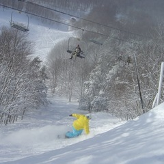 Snowboarder at Caberfae.