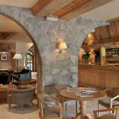 Le salon bar de l'hôtel Beauregard de La Clusaz - ©Frédéric Ducout
