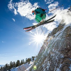 Ben Wheeler getting some air at Snowbasin.