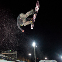 Snowboard Superpipe Practice. Men's elimination round is on Friday at 7pm on ESPN