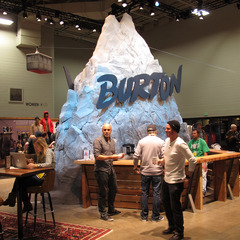 While most of us attending the show would've preferred to be on the mountain, Burton brought the mountain to Winter OR—complete with it's own mini tram to the peak.