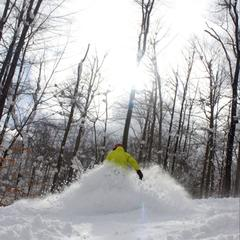 Powder day at Peek 'n Peak in New York.