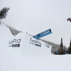 James Woods in the ski slopestyle final.