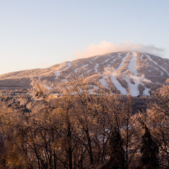Early morning view of Stratton Mountain. Photo: Hubert Schriebl / Courtesy Stratton Mountain.