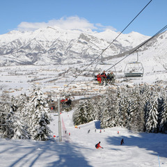 Sur les pistes de ski d'Ancelle