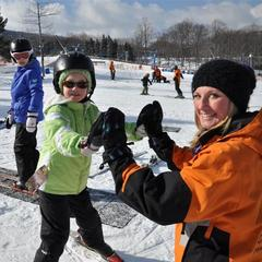 Young skiers getting the feel for sliding on snow. Photo Courtesy of Camelback Mountain Resort.