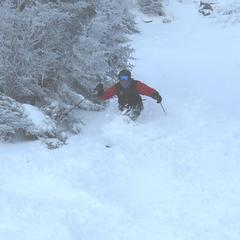 Smuggs is steep and deep in late February.