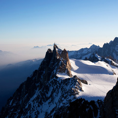 Aerial view of the summit of the Aiguille du Midi - ©Mario Colonel