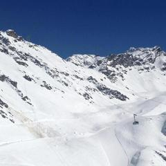 Blue skies in Verbier, March 5, 2013