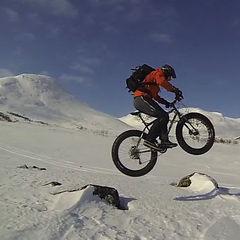 Snøsykling med fatbike - ©Are Tallaksrud