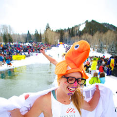 Pond Skimming at Canyons Resort.