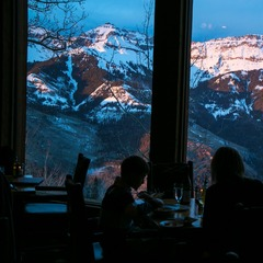 On mountain dining at Allred's provides views that can't be beat.