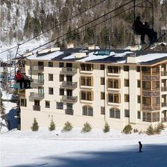 Exterior view of the Edelweiss Lodge & Spa from the Strawberry Hill. - ©Edelweiss Lodge & Spa