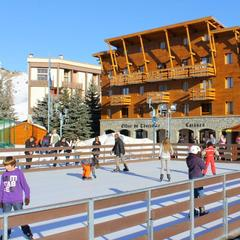La patinoire de Valberg