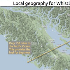 Learn how to predict snowfall totals at Whistler Blackcomb. - ©OpenSnow.com