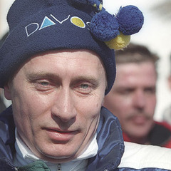 Russian President Vladimir Putin enjoys skiing both in Russia and in Davos, Switzerland.