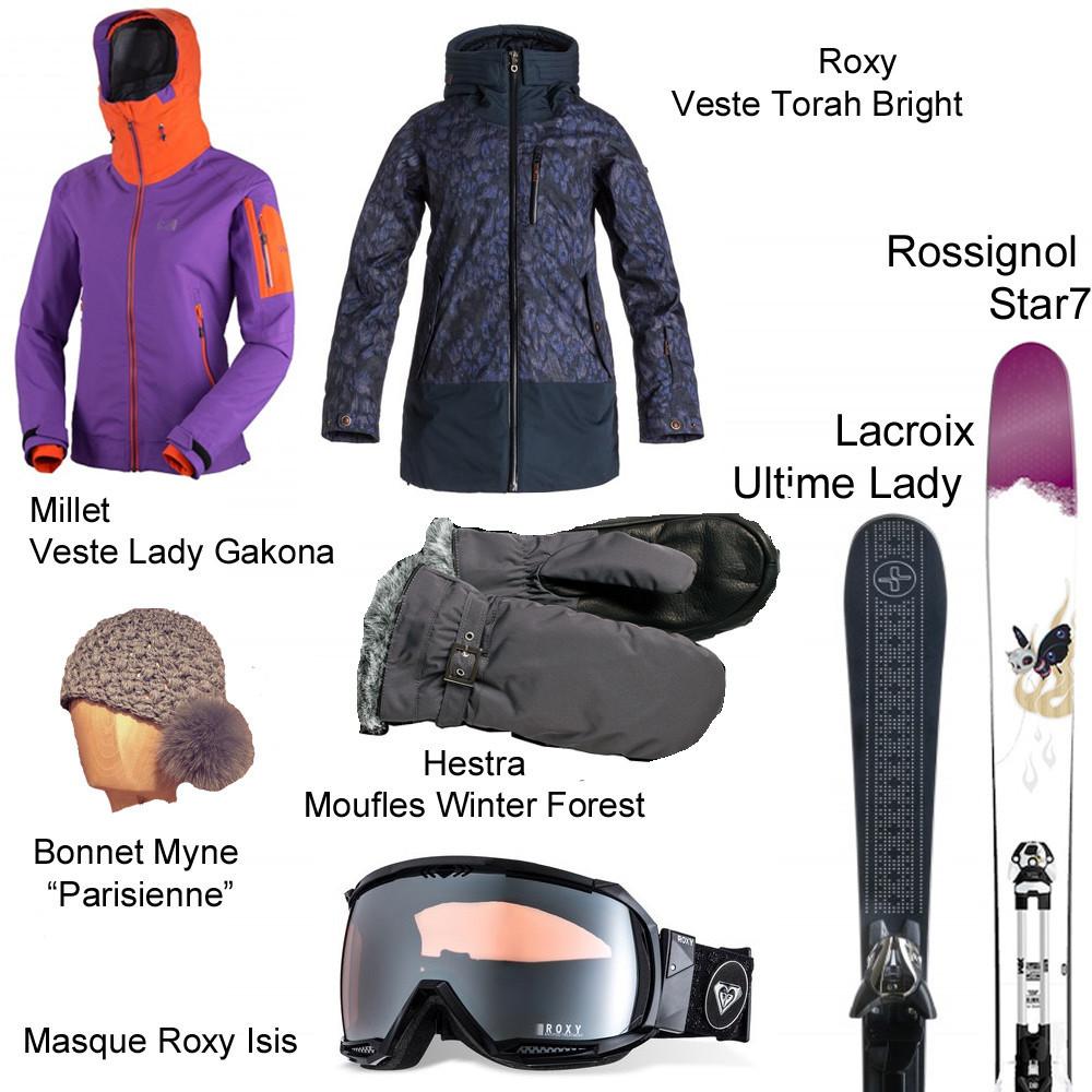 Panoplie de la skieuse fashion