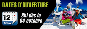 Dates d'ouverture des stations de ski pour la saison 2014/2015