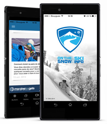 Application pour mobile Skiinfo Ski & Neige