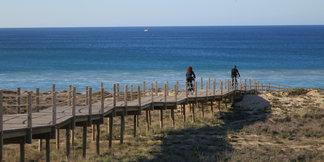 Sonnenziele für Herbstradler: Meer im Blick  - ©Armin Herb