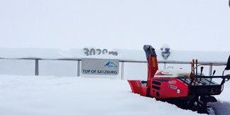 W Alpach zrobiło się biało: opady śniegu w wielu częściach Austrii! ©Facebook Kitzsteinhorn